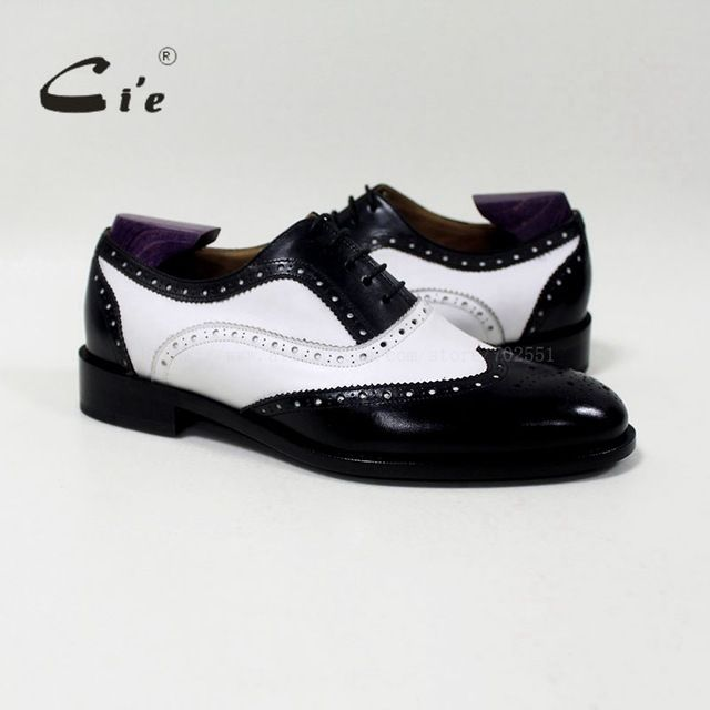 Fair price cie round toe mixed colors white and black custom handmade genuine calf leather men's oxford shoe blake/mackay craft OX-04-00 just only $185.00 with free shipping worldwide  #menshoes Plese click on picture to see our special price for you