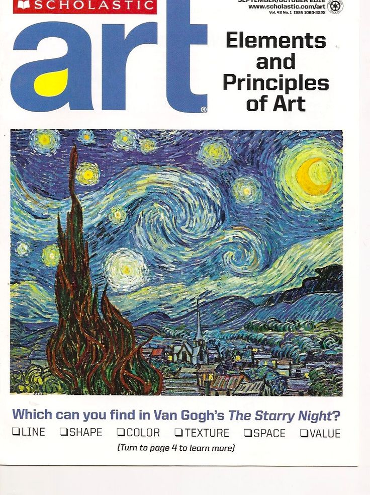 Elements And Principles Of Art : Images about scholastic art magazines  on