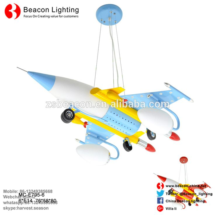 Wholesale New Design Kids Ceiling lights Plane Aircraft Pendant Lamp for Kids Room manufactured with CE certificate in China