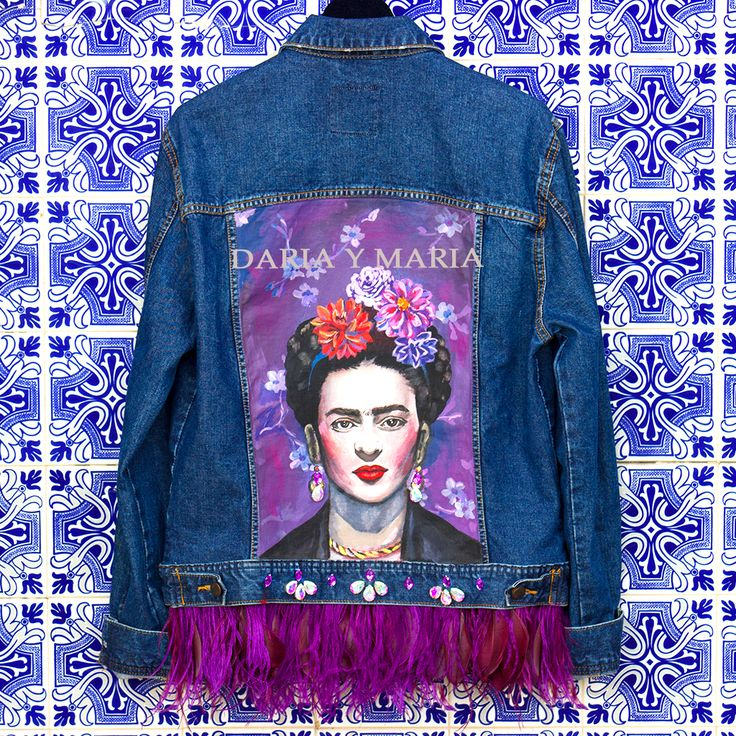 "Handpainted denim jacket ""FRIDA"" for MADONNA you can shop at www.dariaymaria.com #modalisboa #lisbonfashionweek #jacketfrida #lisboa #fashionweek #italy #london #frida #fridakahlo #фрида #фридакало #курткафрида #курткасфридой #dariaymaria #madonna"