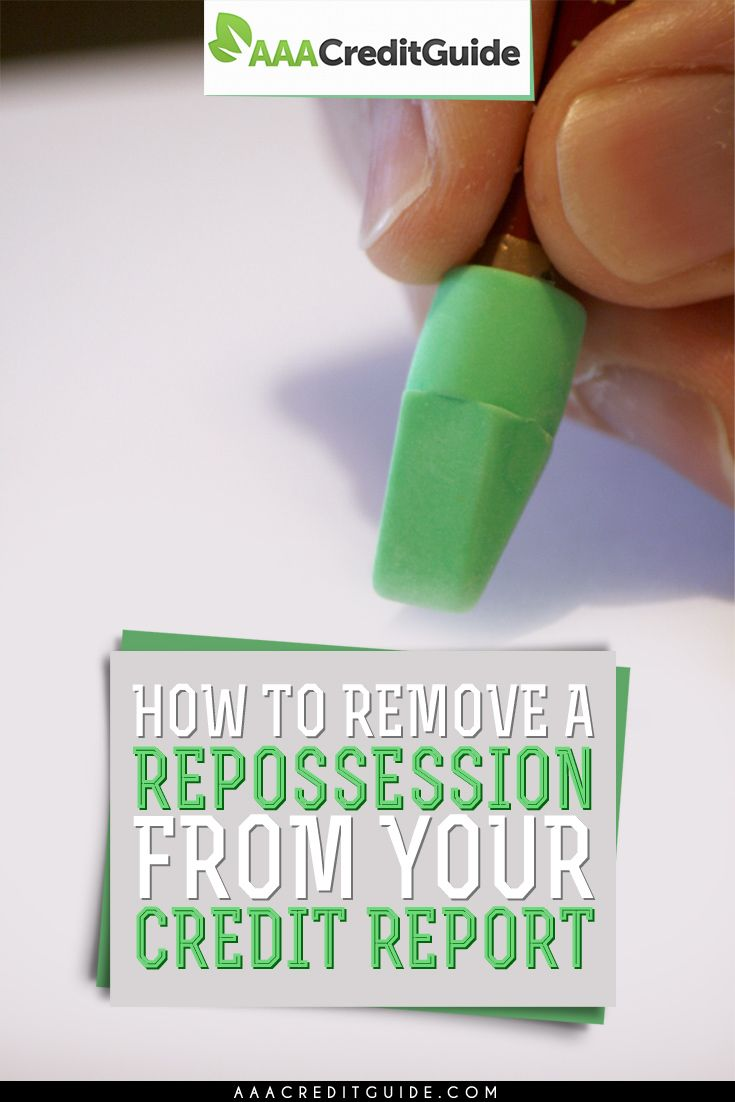 Need to get an auto repossession off of your credit report? Find out how I raised my credit score by removing an auto repossession from my credit report.