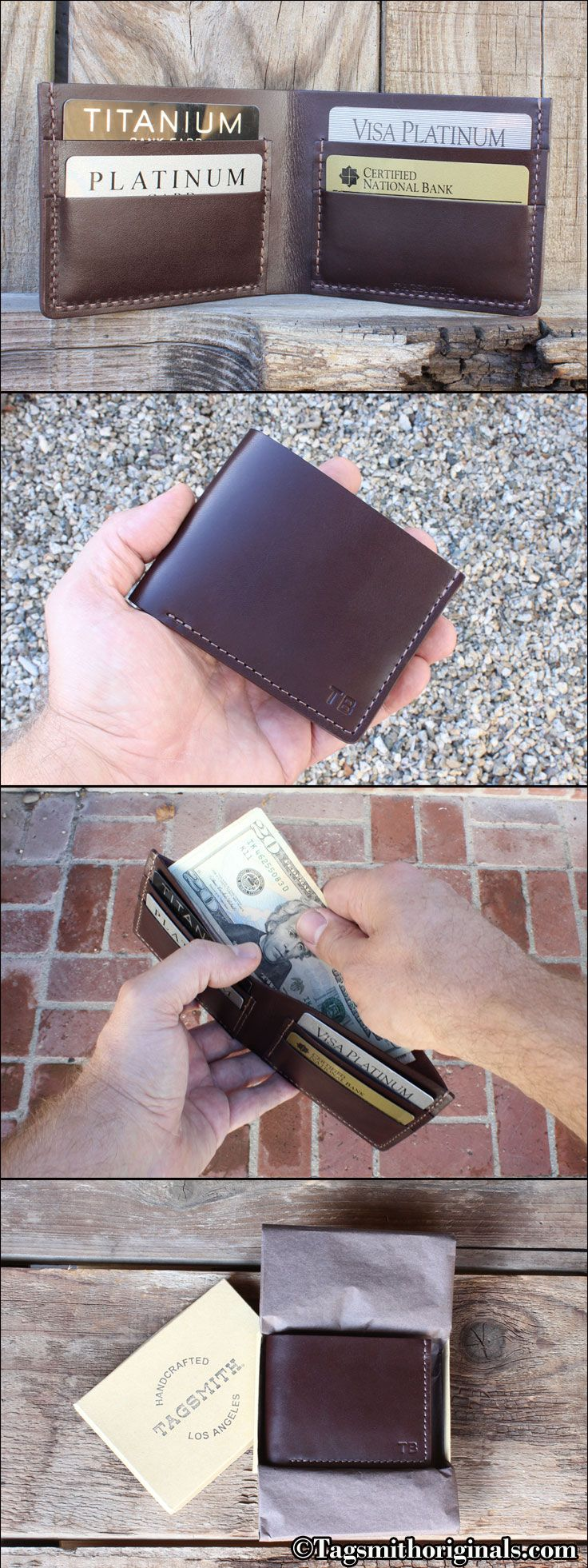 Men's Leather Wallet Classic Five Pocket