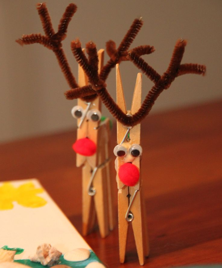 clothespin reindeer holidays pinterest