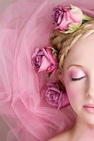 Flowers In Her HairSleep Beautiful, Pink Wedding, Pink Flower, Sports Cars, Pink Christmas, Pretty Pink, Pink Makeup, Bridal Hairstyles, Pink Rose