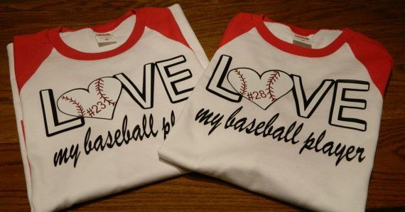 Love My Baseball Softball Player Raglan by PolkaDottedSunflower, $22.75
