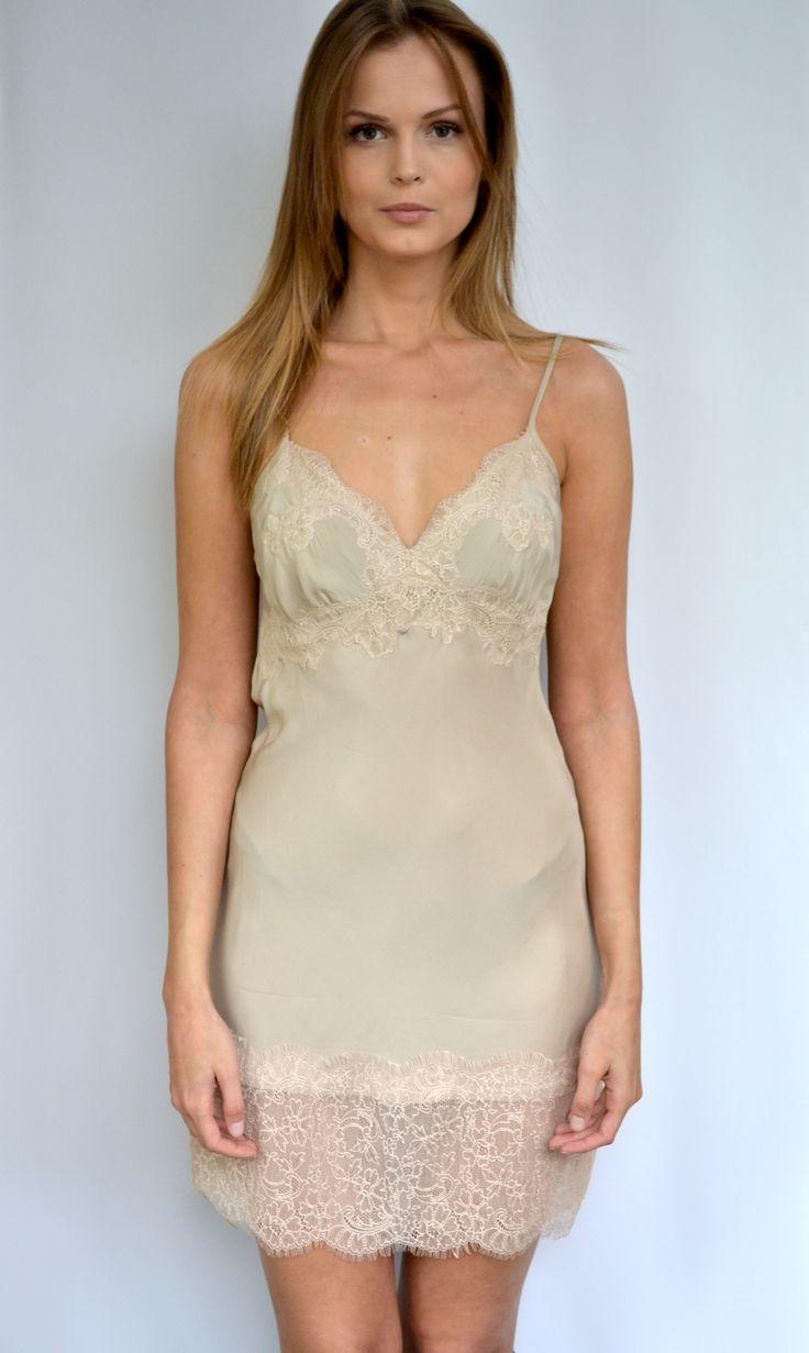 Vintage Lace Dress Beige from Gold Hawk at Fashion Addict  http://fashion-addict.eu/vintage-lace-cami-dress/c/p4/i1399