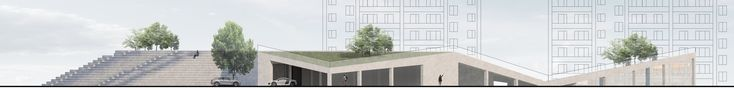 Проект «Гараж-трибуна с функцией спортивного комплекса». Автор: Руэда Марсело, студент 5 группы 3 курса