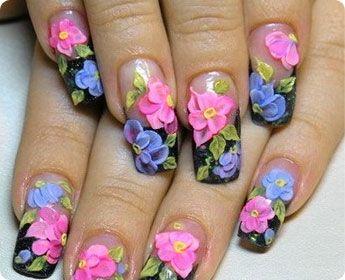 #nails #flowers #beauty #evgelina