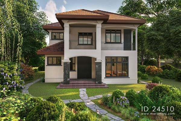 4 Bedroom Plan In Tropical Garden Setting