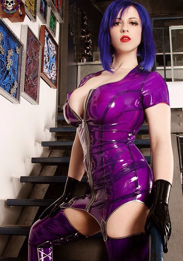 attire black fetish latex porn - 2284985 larkin love steps out in her stunning transparent purple latex  Rubber is the New Skin