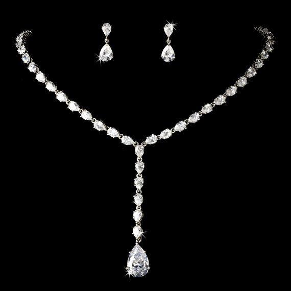 Bridal necklace SET, Wedding jewelry Set, Crystal Bridal necklace, Crystal Wedding earrings, Bridal jewelry, Rhinestone necklace set