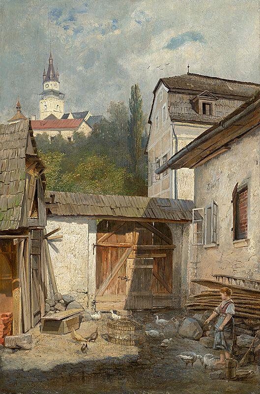 Dvor v Kremnici by Vojtech Angyal, 1880/1900. Slovak national gallery, CC BY