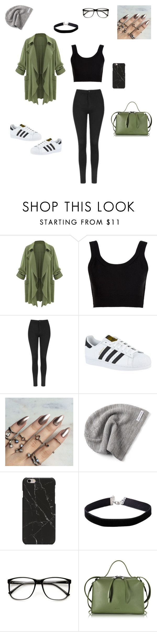 """""""The Girl With The Gray Beanie"""" by skylarmalibu ❤ liked on Polyvore featuring Calvin Klein Collection, Topshop, adidas, Converse, Miss Selfridge, ZeroUV and Jil Sander"""
