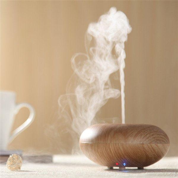 100-240V Ultrasonic Wood Grain Air Humidifier Diffuser Spray Mist Aromatherapy at Banggood