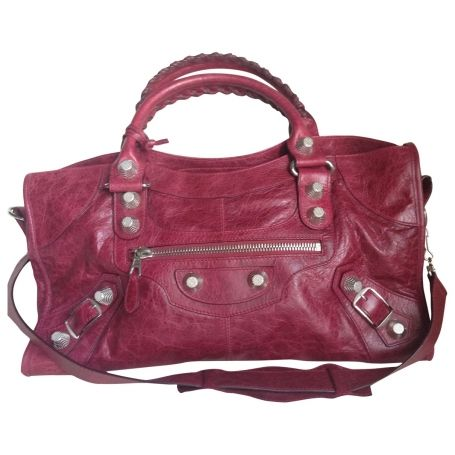 BALENCIAGA Raspberry red classic 'Part time' bag