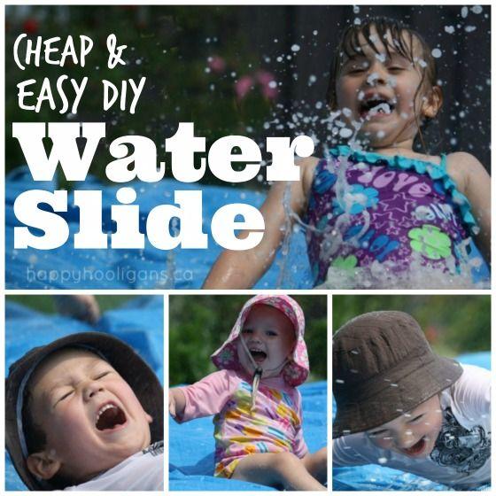 Comment faire une glissade d'eau de bricolage pour votre arrière-cour