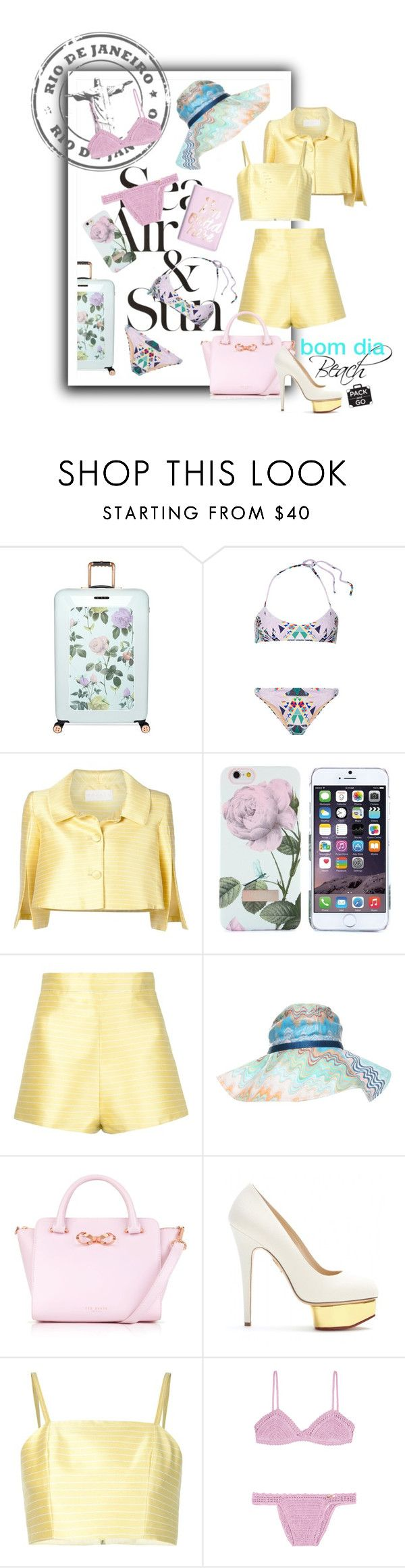 """""""2015aw bom dia rio"""" by vaughnroyal ❤ liked on Polyvore featuring Valentino, Ted Baker, Mara Hoffman, Christian V Siriano, ban.do, Missoni, Charlotte Olympia and SHE MADE ME"""