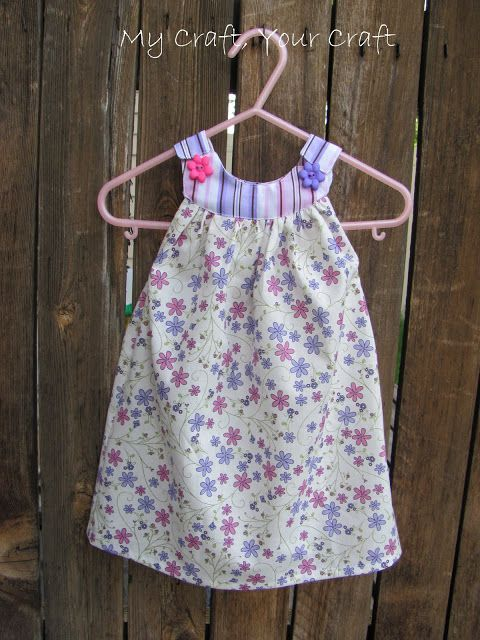 sewing summer baby dress: tutorial - crafts ideas - crafts for kids