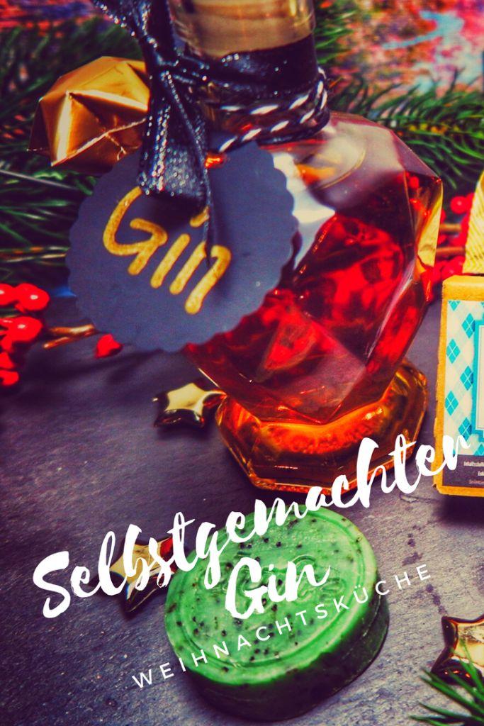 WEIHNACHTSGESCHENKE | Geschenkidee für Männer gesucht? Selbstgemachter Gin ist eine super Weihnachtsgeschenkidee für eure Liebsten! Geschenke aus der Küche erfreuen jeden und dieser selbstgemachte Gin ist der absolute Hit!