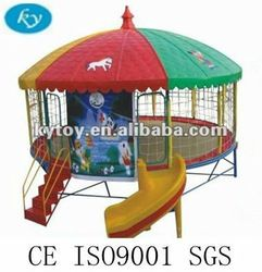 Gymnastic Trampoline Tent With Enclosure And Ladder -