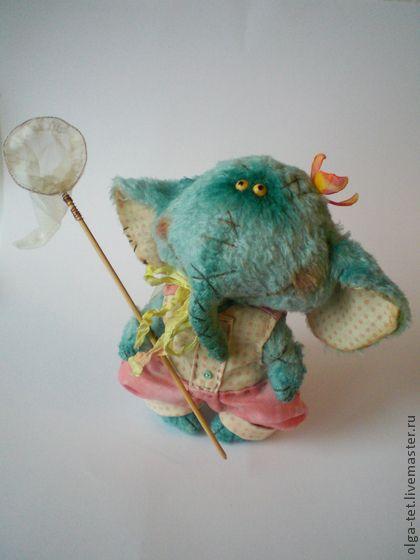 Слоник Фунтик - бирюзовый,тедди,слон,слоник,слоник тедди,уникальный подарок