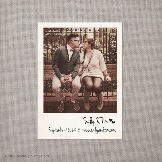 Vintage Polaroid Save the Date Magnet