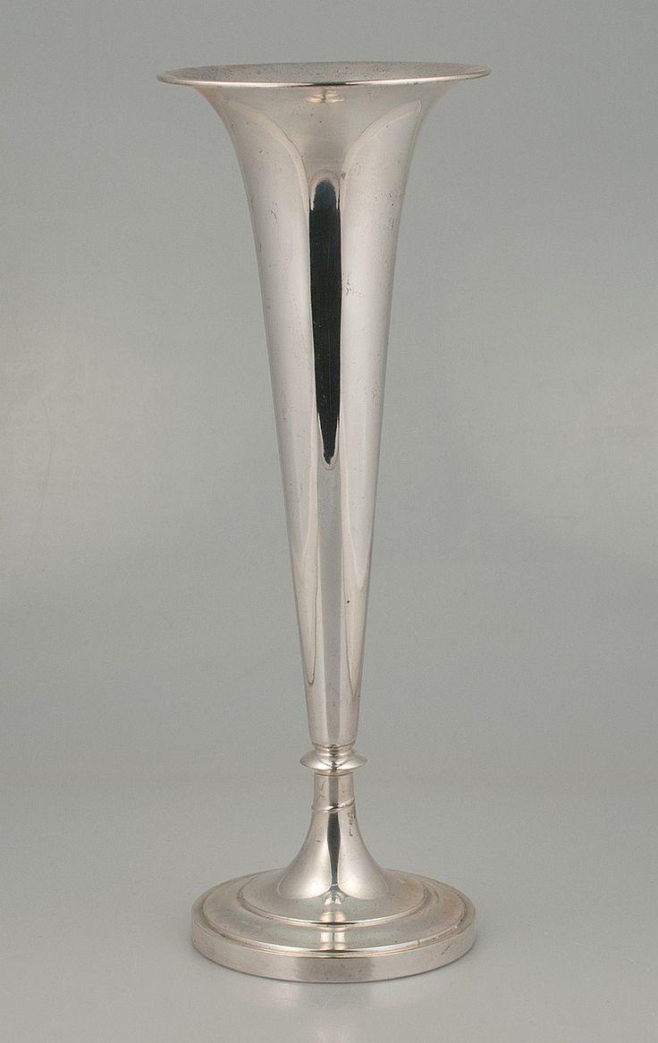 Trumpet Vase Silver Clemens Friedell Silver Trumpet Vase