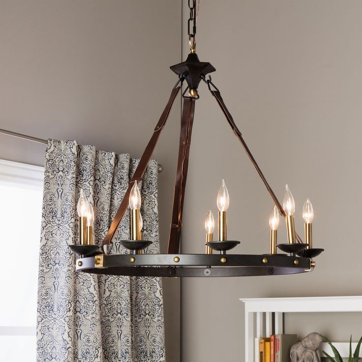 Cavalier 9-light Black Chandelier - Free Shipping Today - Overstock.com - 15921215 - Mobile
