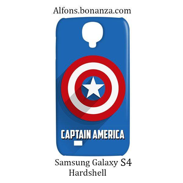 Captain America Logo Samsung Galaxy S4 S IV Hardshell Case