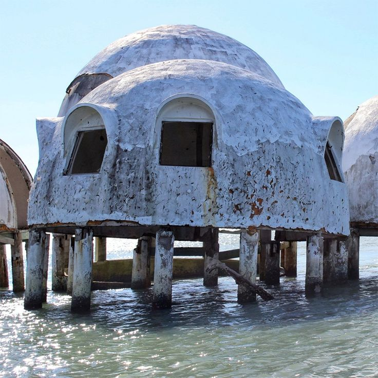 Abandoned dome house Cape Romano FL Built