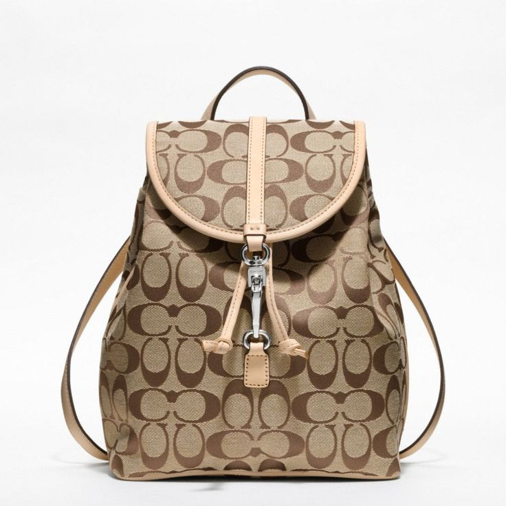 The Coach Classic Small Backpack In Signature Fabric from Coach $258