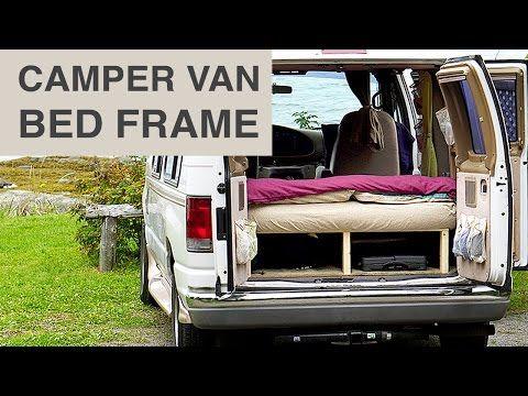 Van Life - Cheap & Easy Camper Van Bed Frame - YouTube
