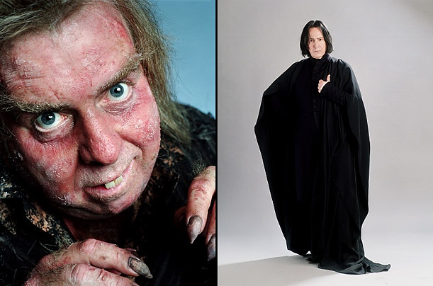 Peter Pettigrew and Severus Snape  Timothy Spall and Alan Rickman in Harry Potter and the Prisoner of Azkaban, 2004