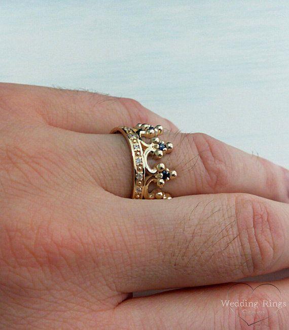 Crown Wedding Bands Royal Crown Wedding Rings Expensive Rings Set Women Crown Ring Men Crown Ban