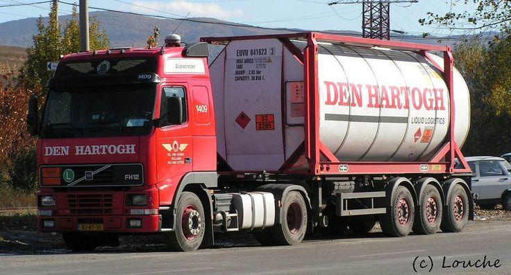 https://flic.kr/p/aRPoSR | Den Hartogh, Holland | company: Den Hartogh; tractor: Volvo FH12 Globetrotter; plate: BJ-RT-33 (front), OG-10-SR (back); location: Zalau (RO)