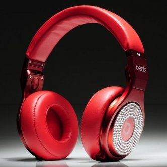 Monster Beats Pro Red With White Diamond Headphones [MonsterBeatsPro012] - $200.75 :
