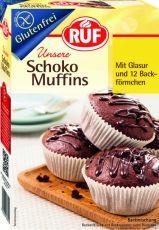 Backmischung Schoko Muffins mit Glasur