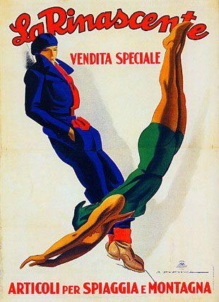 La Rinascente, vendita speciale,  articoli per spiaggia e montagna 1930