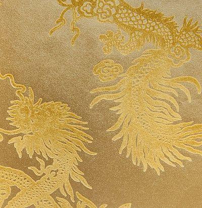 золотые обои с драконами Ральф Лорен