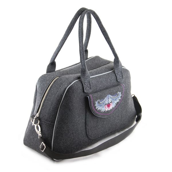 TULIP - elegancka torba podróżna z filcu w INCAT  na DaWanda.com