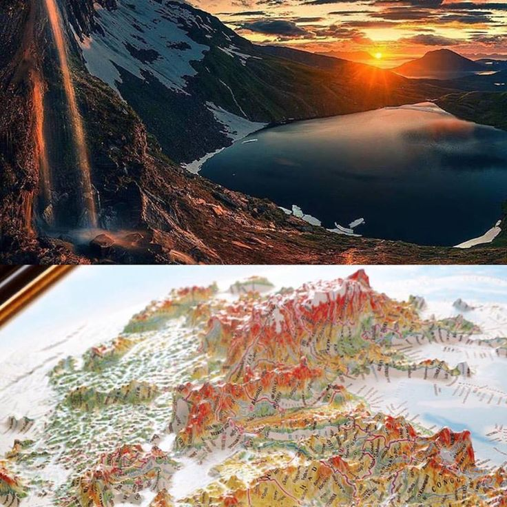 Touch the mountains 3D World hemisphere map