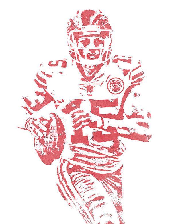 73682129953 Patrick Mahomes Kansas City Chiefs Water Color Art 11 Art Print by Joe  Hamilton | NFL PIXEL ART | Kansas City Chiefs, Chiefs wallpaper, Joe  hamilton