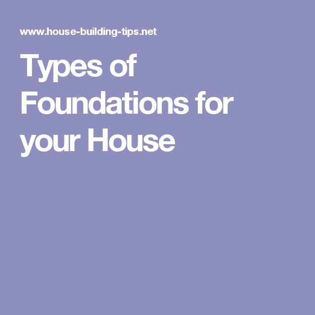 Types of Foundations for your House