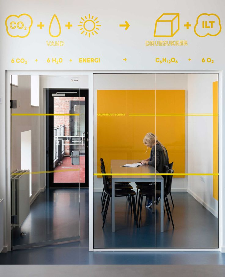 Signage and wayfinding at Frederiksbjerg School, Aarhus. The graphic expression reflects the school's values and their legacy. The consequent implementation creates a strong identity and coherence throughout the building which offers children and adults a complete experience when they enter the school.
