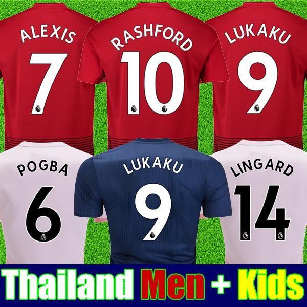 Finding Best Online Thailand Alexis Manchester Pogba Man Soccer Jersey 2019 Lukaku Rashford Football Kit Top United Utd Je Soccer Jersey Jersey Football Shirts