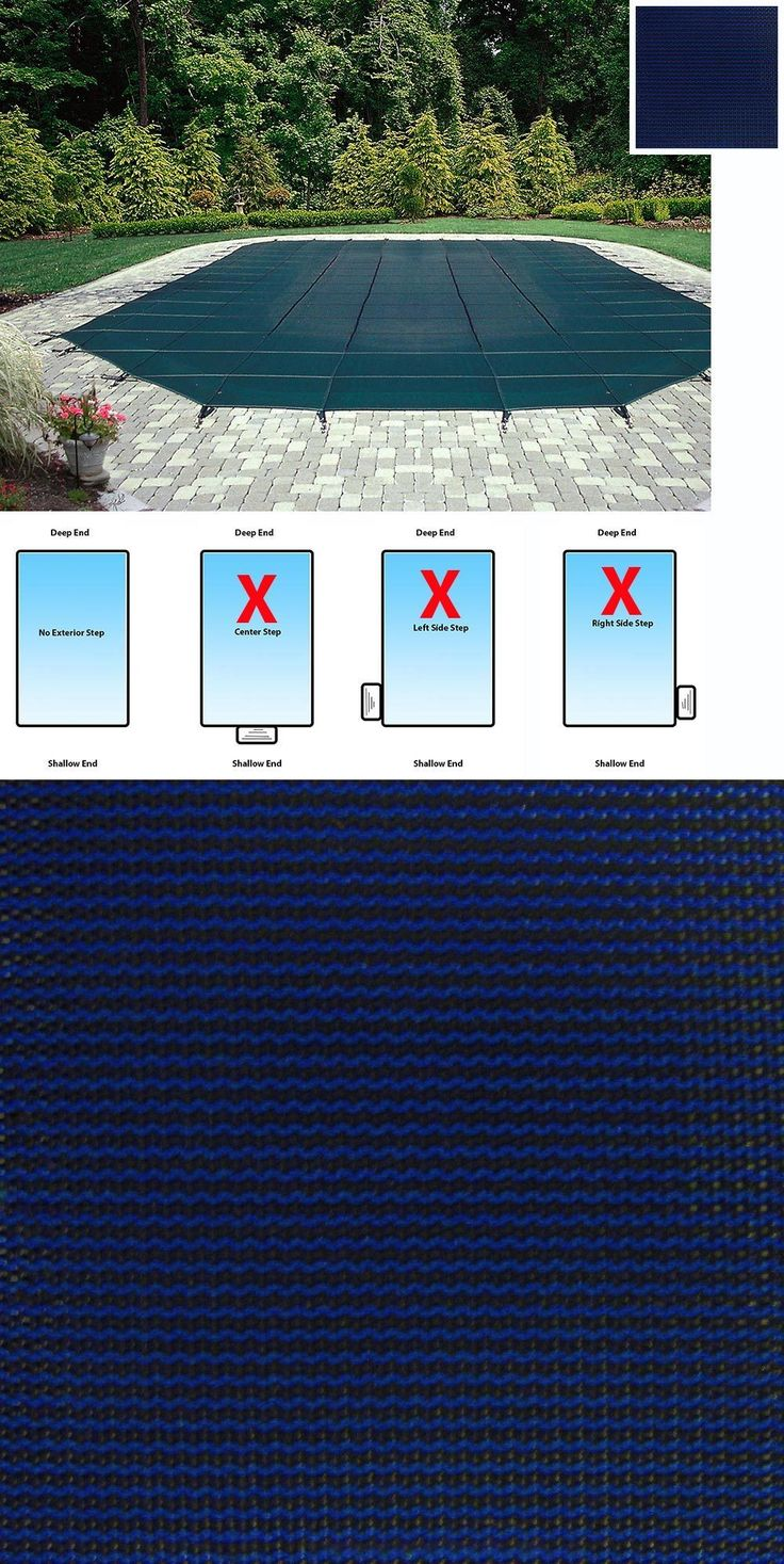 Pool Covers and Rollers 181068: Mesh Rectangular Safety Cover - 20 X 40 In-Ground Pool-12-Year Warranty-Blue -> BUY IT NOW ONLY: $654.99 on eBay!