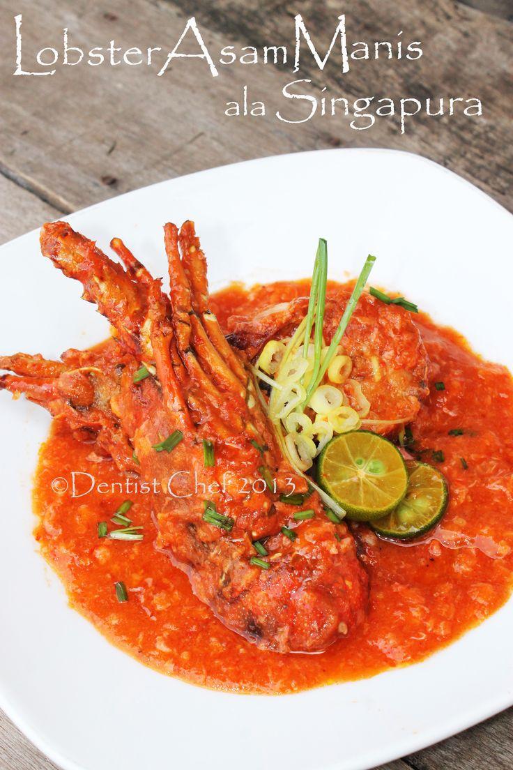 resep lobster saus asam manis lobster saus singapura