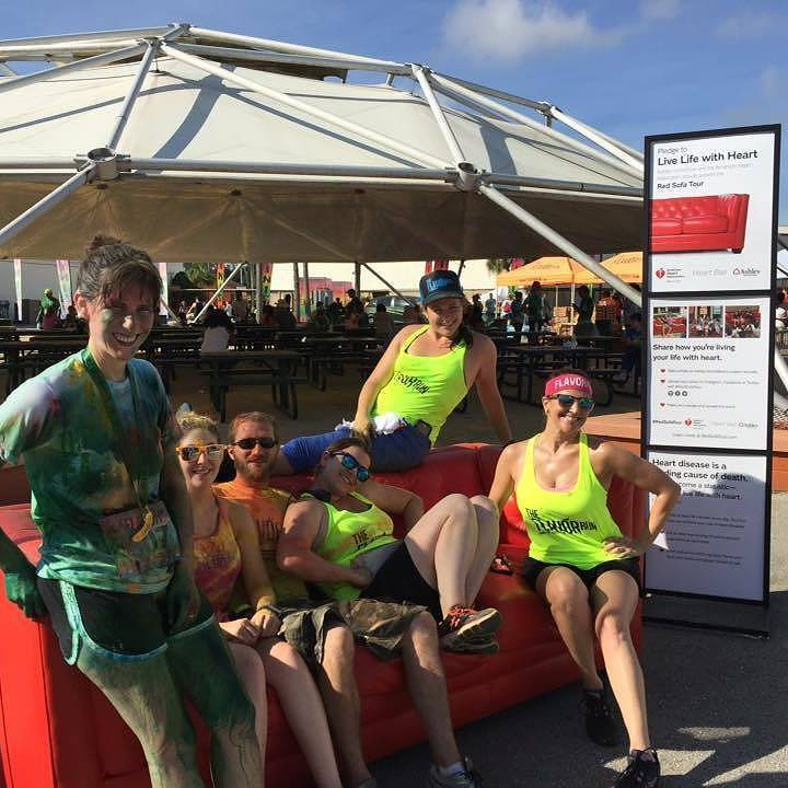 Did you get to sit on the #redsofa while it was making a tour stop at The Flavor Run Tampa? We are so excited that we got to host The American Heart Association and Ashley Furniture as they spread the word with their #redsofatour We wont tell you how much #flavorpowdwer was on that couch at the end of the day- but we sure had fun (and enjoyed the moment to sit) The Flavor Staff thanks you!!! #flavorruntampa #flavorrun #happyrunners #lovewhatyoudo #giveback #flavorfamily