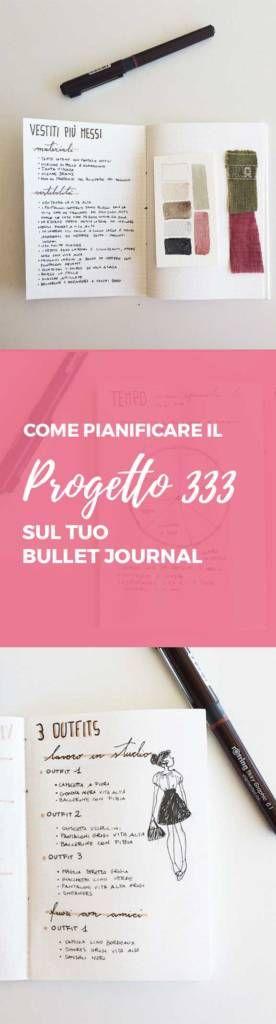 Progetto 333 | guardaroba capsula | decluttering | bullet journal
