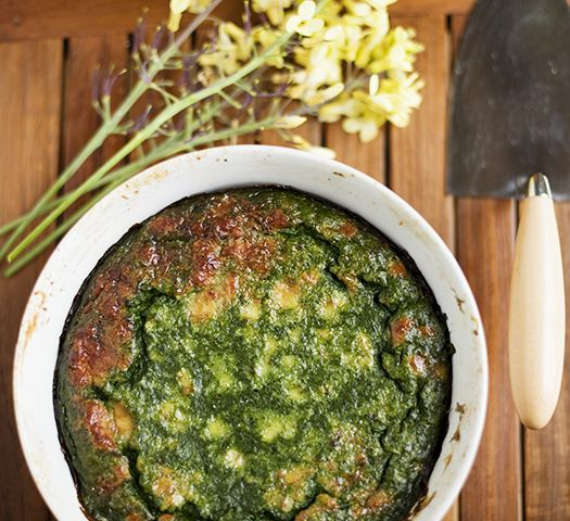 David Tanis' Spinach Cake | Yummy Supper